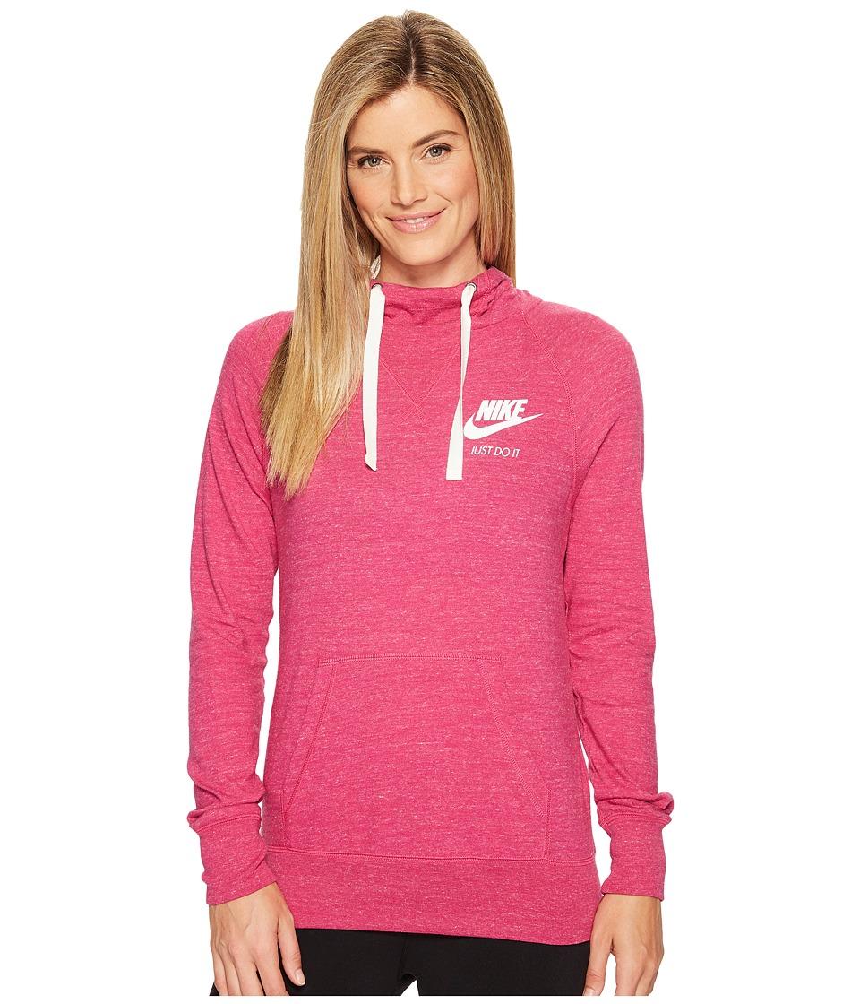 Nike - Sportswear Pullover Hoodie (Sport Fuchsia/Sail) Women's Sweatshirt