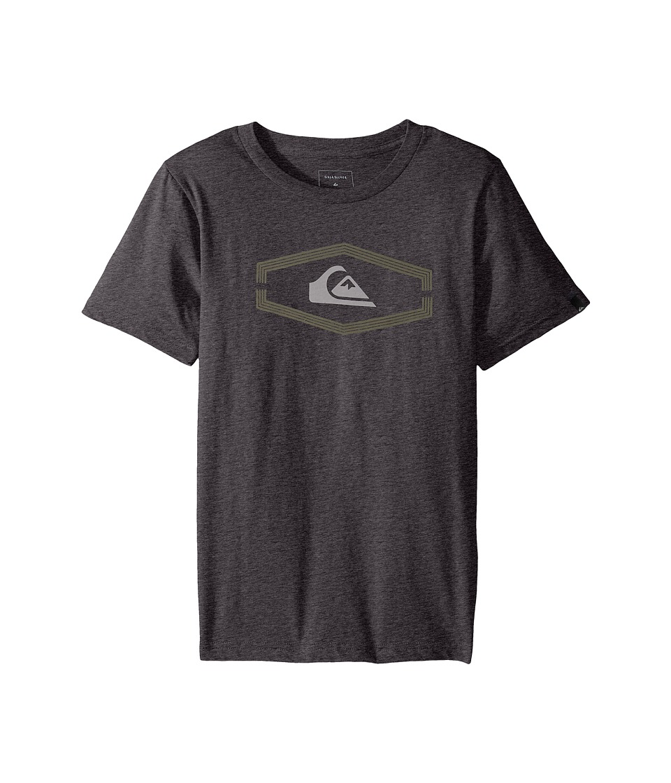 Quiksilver Kids - Dang Bod Screen Tee (Big Kids) (Charcoal Heather) Boy's T Shirt