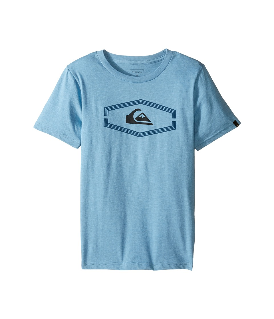 Quiksilver Kids - Dang Bod Screen Tee (Big Kids) (Niagara Heather) Boy's T Shirt