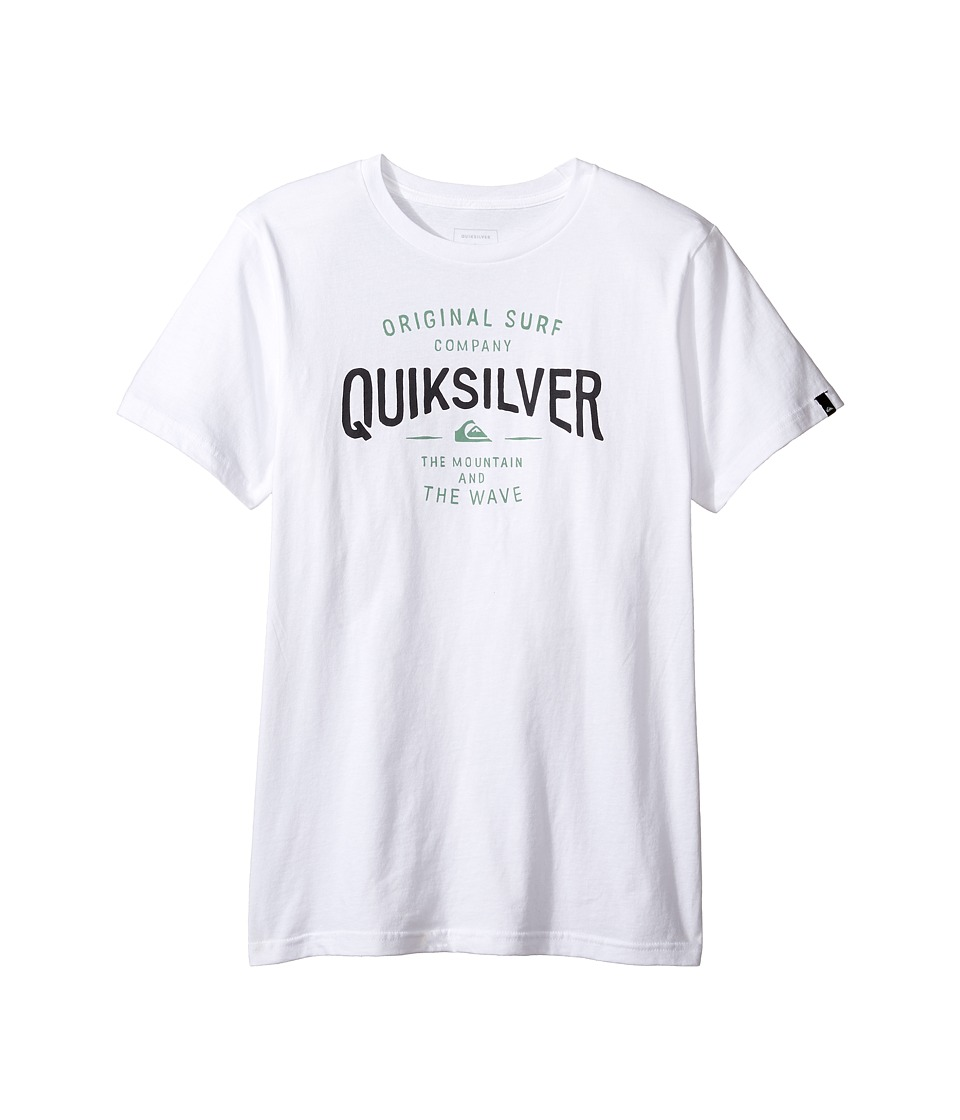 Quiksilver Kids - Sunset Town Screen Tee (Big Kids) (White) Boy's T Shirt