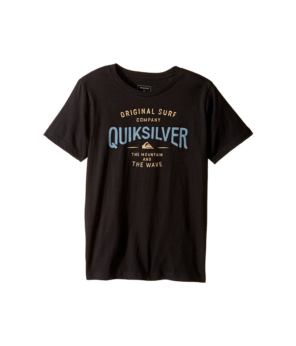 Quiksilver Kids - Sunset Town Screen Tee (Big Kids) (Black) Boy's T Shirt