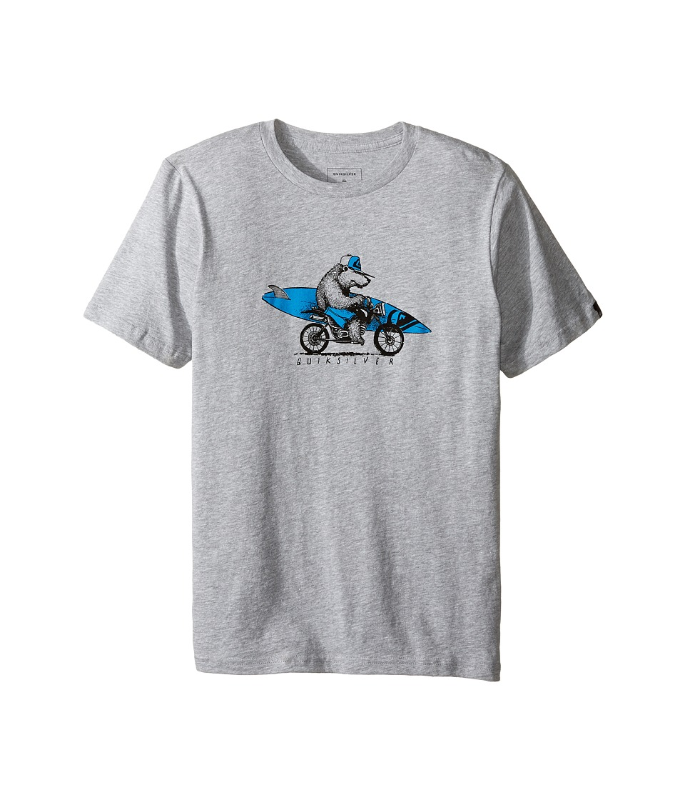 Quiksilver Kids - Bear On Da Way Bod Screen Tee (Big Kids) (Athletic Heather) Boy's T Shirt