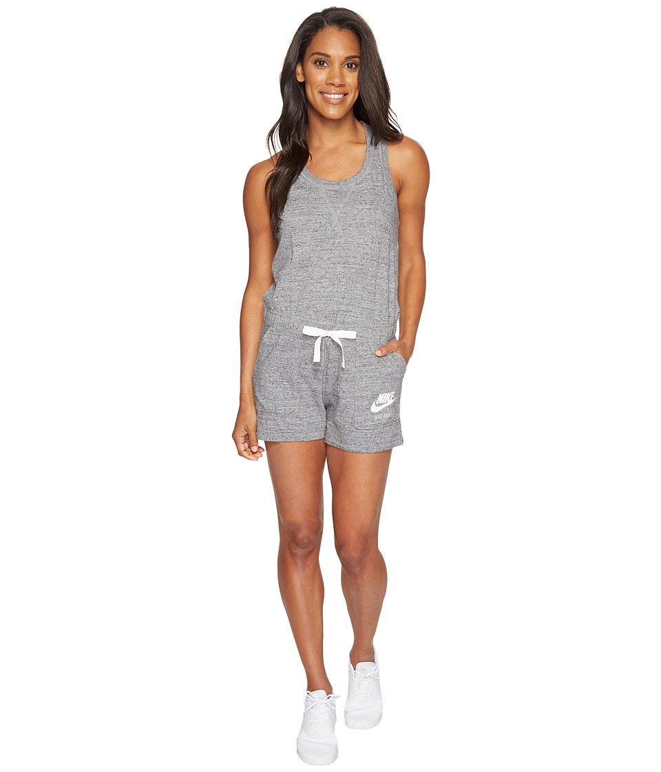 Nike - Sportswear Vintage Romper (Carbon Heather/Sail) Women's Jumpsuit & Rompers One Piece