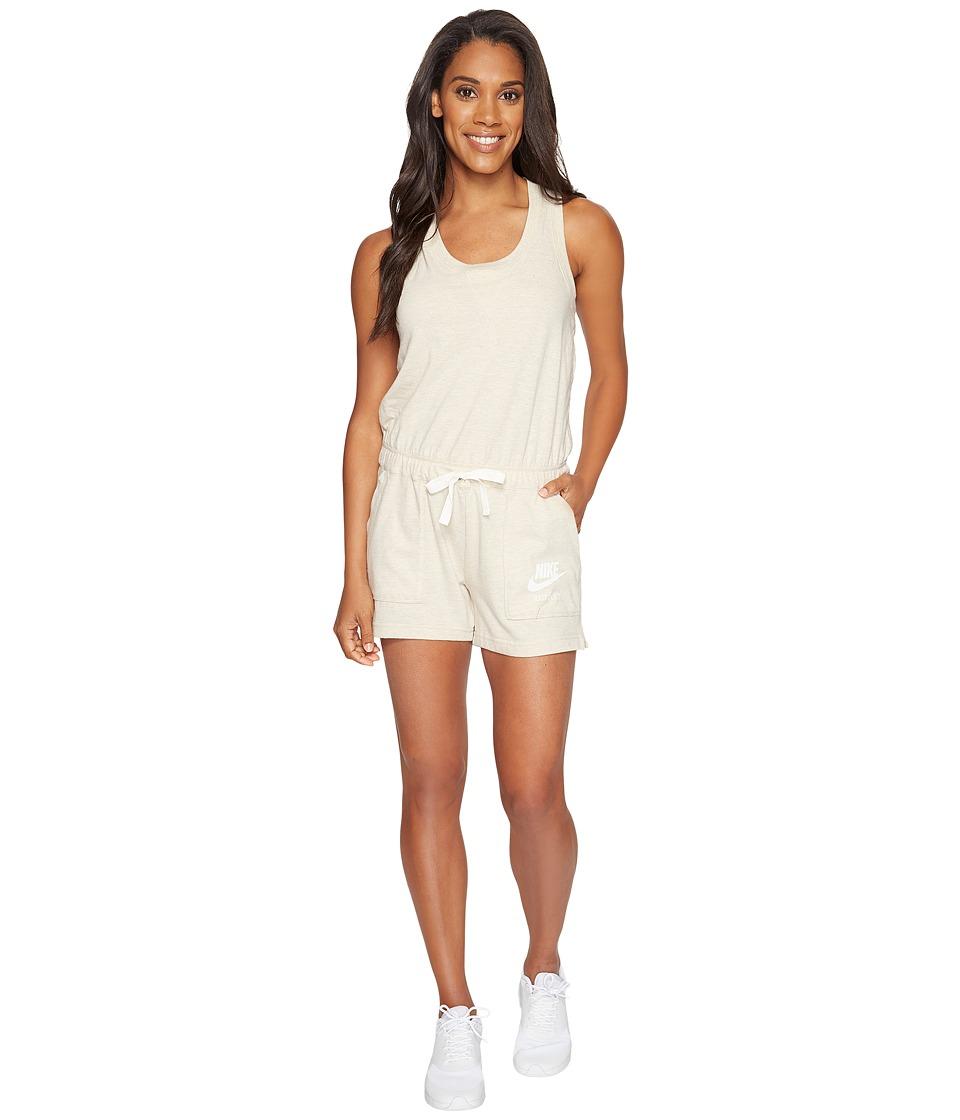 Nike - Sportswear Vintage Romper (Oatmeal/Sail) Women's Jumpsuit & Rompers One Piece