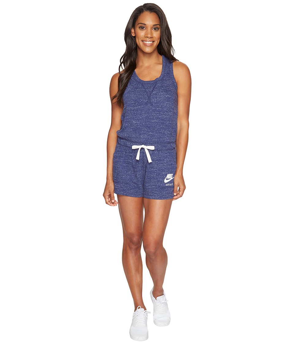 Nike - Sportswear Vintage Romper (Binary Blue/Sail) Women's Jumpsuit & Rompers One Piece