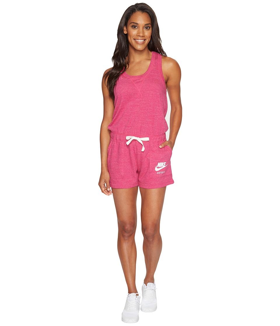Nike - Sportswear Vintage Romper (Sport Fuchsia/Sail) Women's Jumpsuit & Rompers One Piece