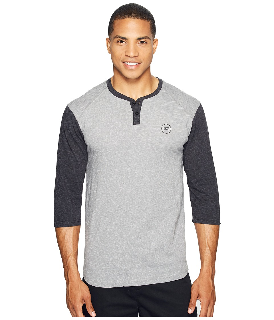 O'Neill - The Bay Henley 3/4 Knits (Grey) Men's Clothing