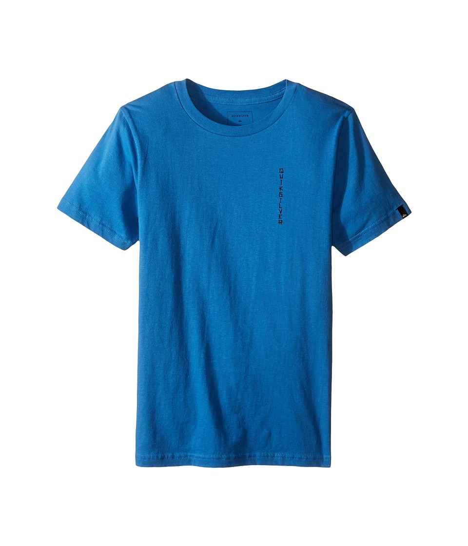 Quiksilver Kids - Faded Time Screen Tee (Big Kids) (Star Sapphire) Boy's T Shirt