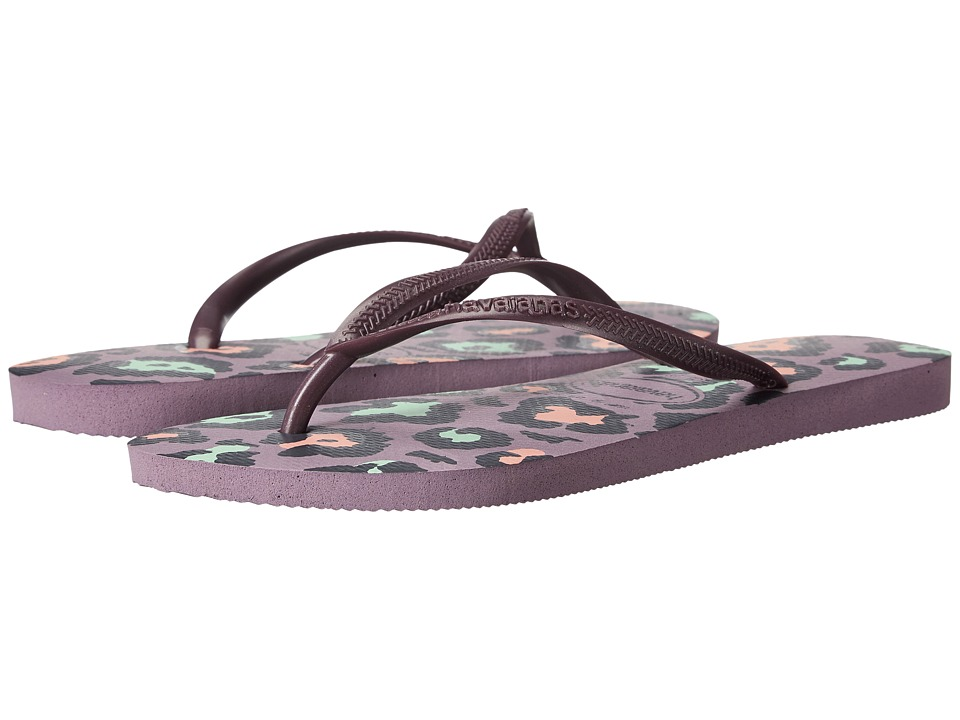 Havaianas Slim Animals Flip Flops (Petunia) Women