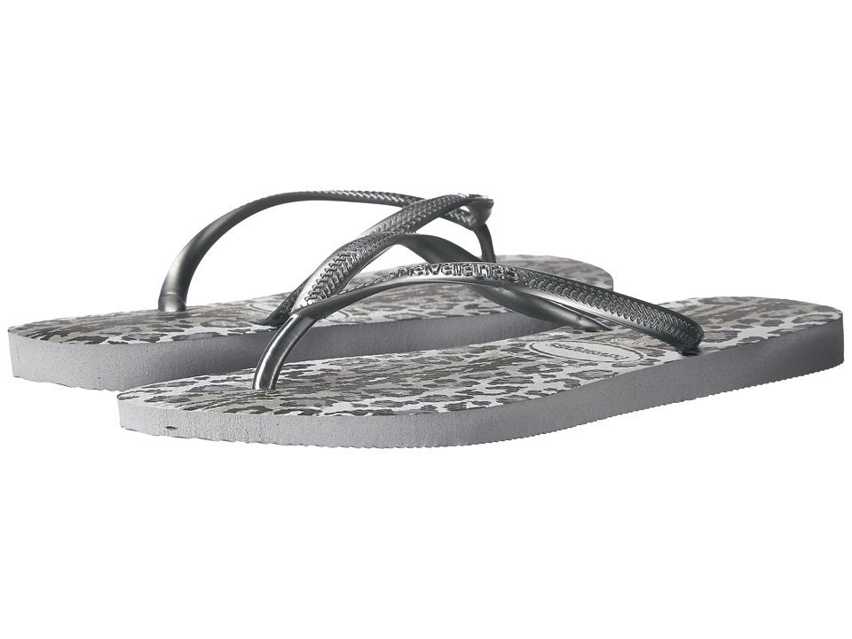 Havaianas - Slim Animals Flip Flops (Grey/Graphite) Women's Sandals