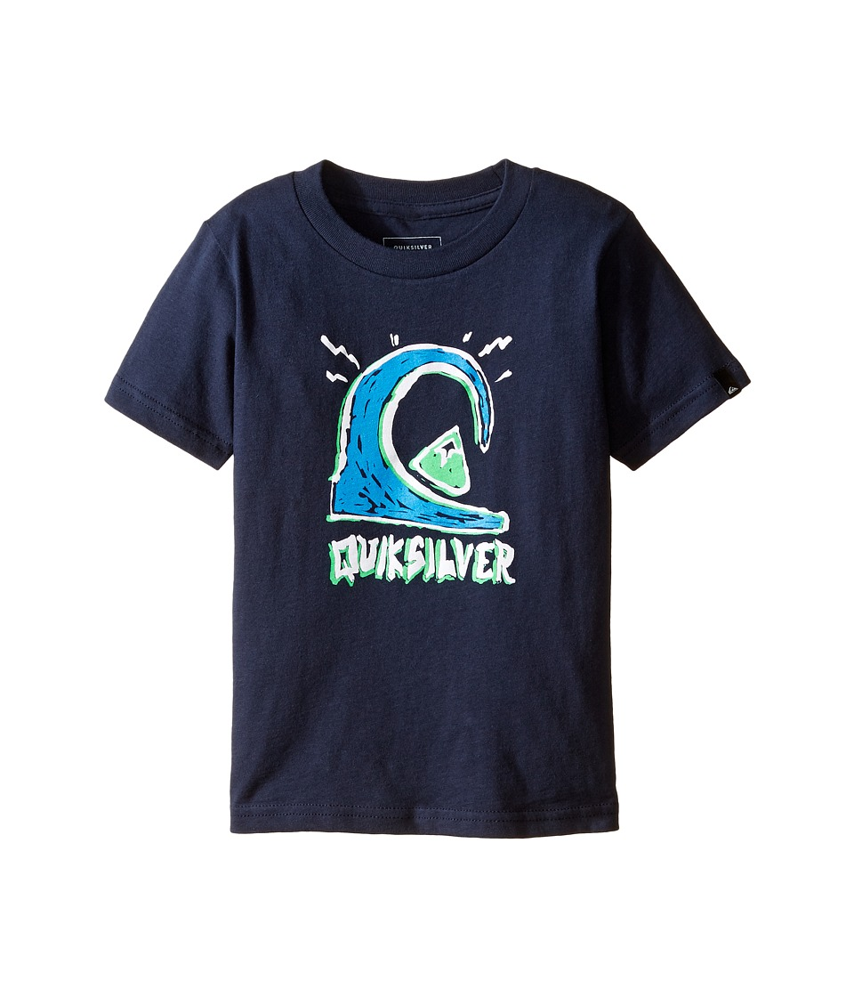 Quiksilver Kids - Logololo Screen Tee (Toddler/Little Kids) (Navy Blazer) Boy's T Shirt