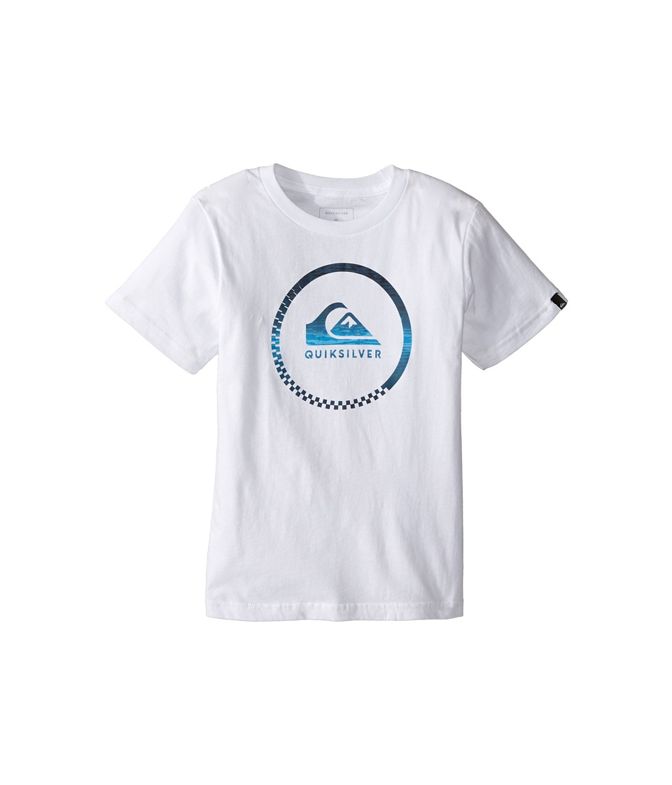 Quiksilver Kids - Slash Active Screen Tee (Toddler/Little Kids) (White) Boy's T Shirt