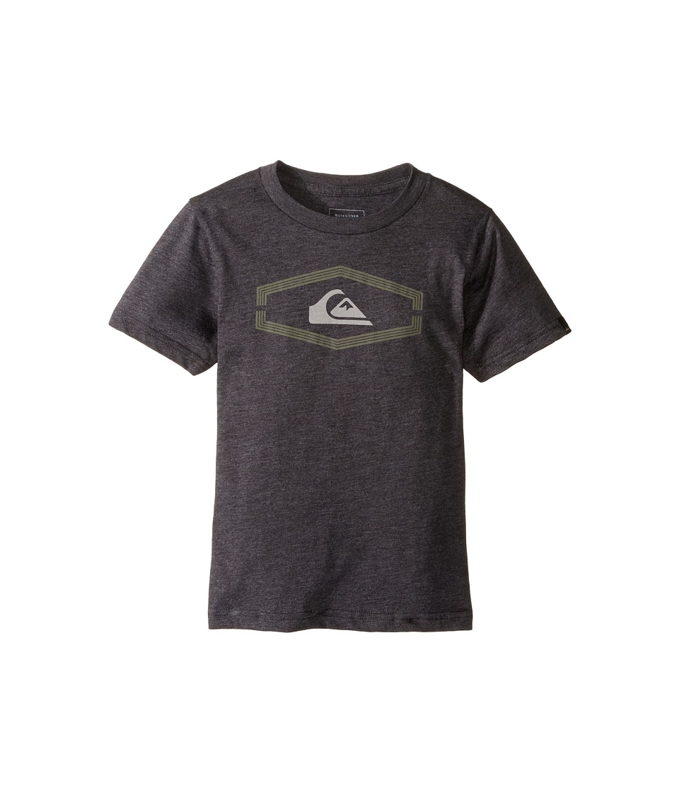 Quiksilver Kids - Dang Kod Screen Tee (Toddler/Little Kids) (Charcoal Heather) Boy's T Shirt