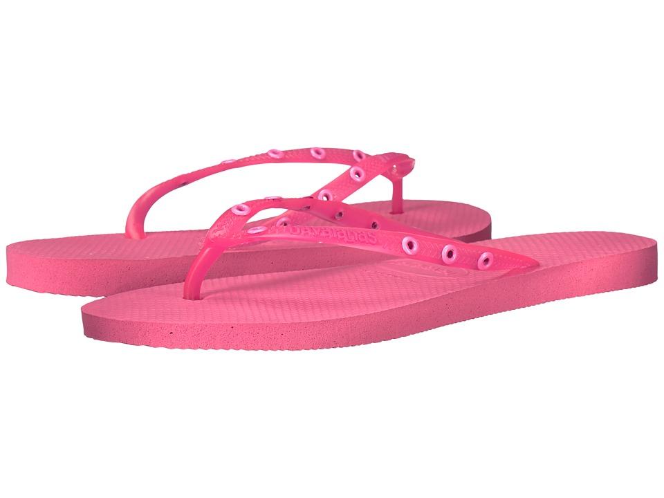 Havaianas - Slim Candy Flip Flops (Shocking Pink) Women's Sandals