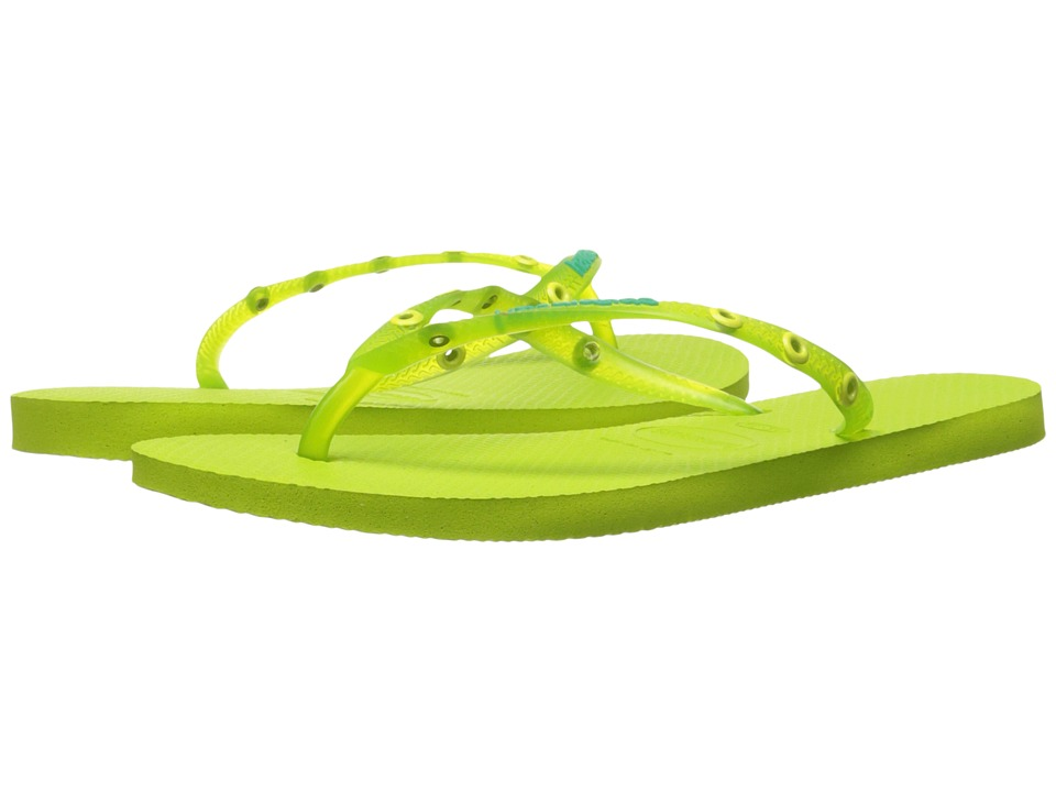Havaianas Slim Candy Flip Flops (Yellow Led) Women