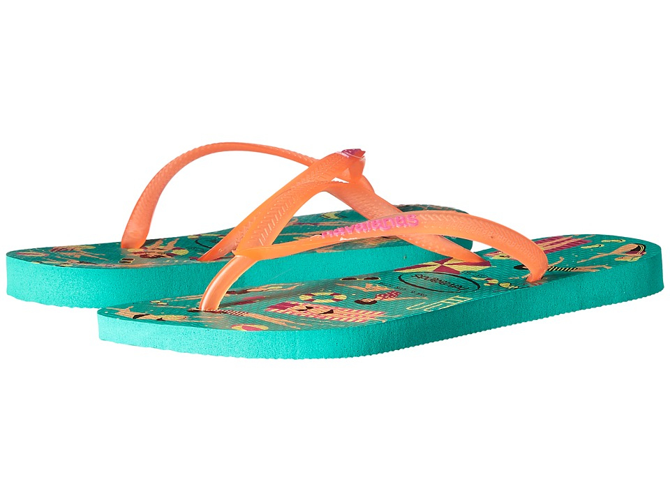 Havaianas - Havaianas Slim Cool Flip Flops (Mint Green) Women's Sandals