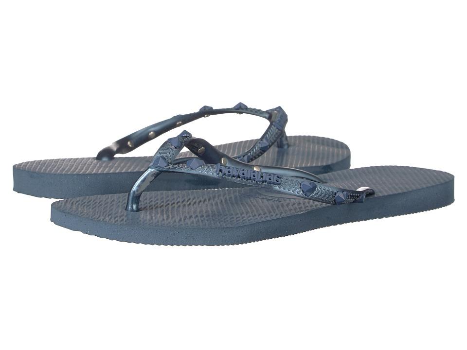 Havaianas - Slim Hardware Flip Flops (Indigo Blue 1) Women's Sandals