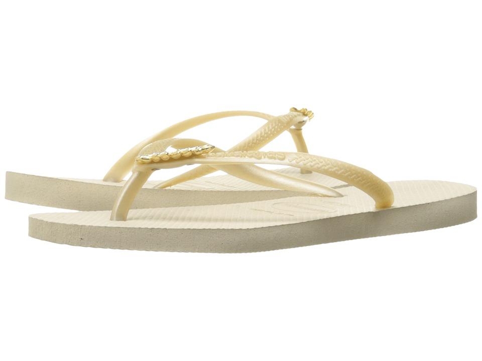 Havaianas - Slim Lux Flip Flops (Beige) Women's Sandals