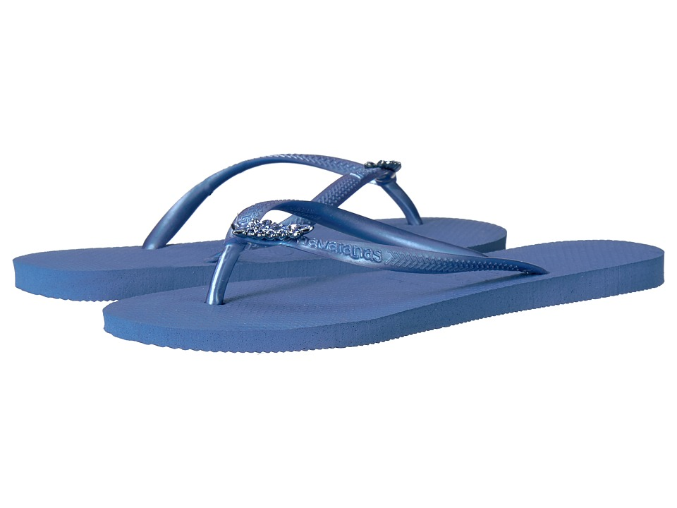 Havaianas - Slim Lux Flip Flops (Light Blue) Women's Sandals