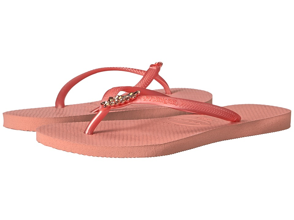 Havaianas Slim Lux Flip Flops (Light Rose) Women
