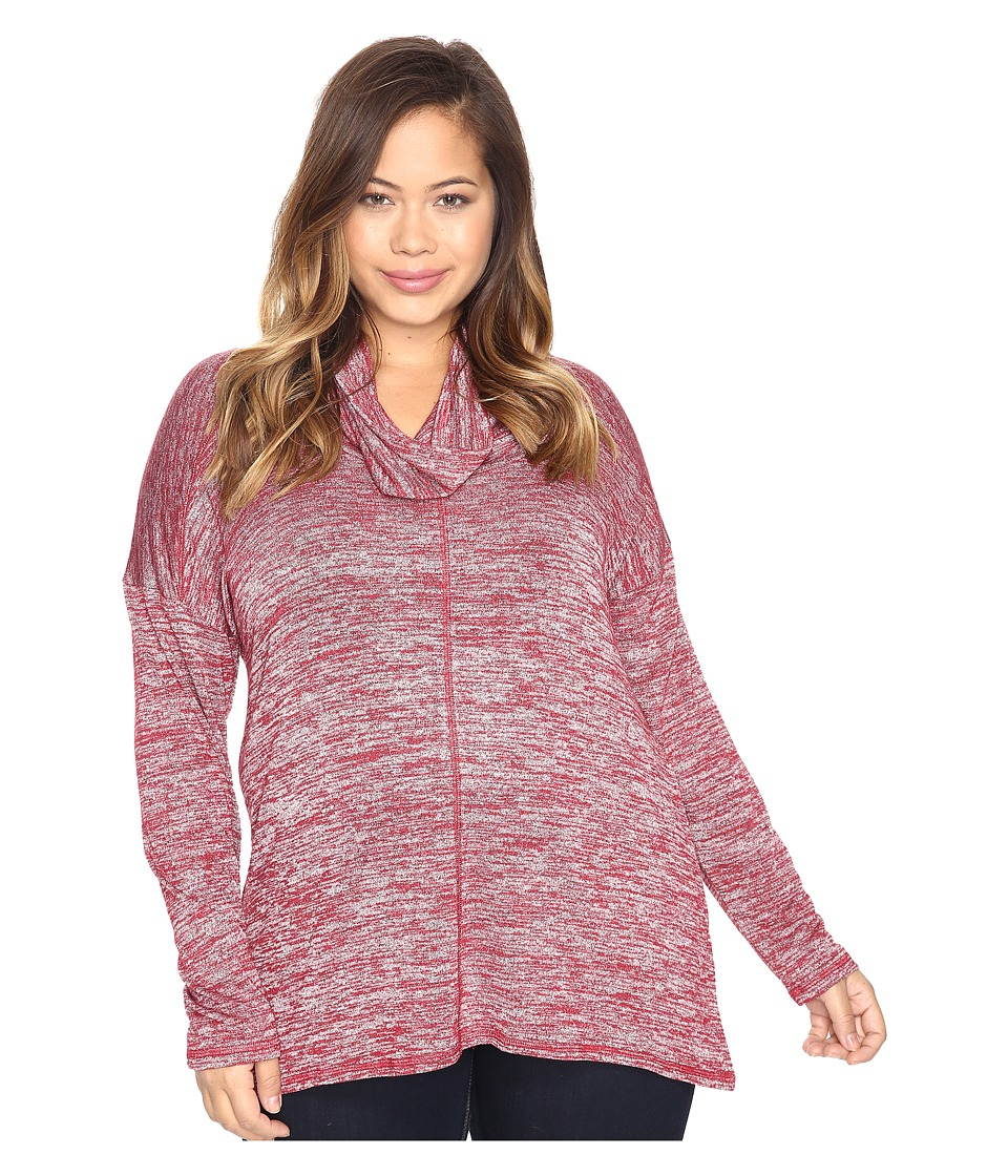Lucky Brand - Plus Size Cowl Neck Tunic (Rio Red) Women's Clothing