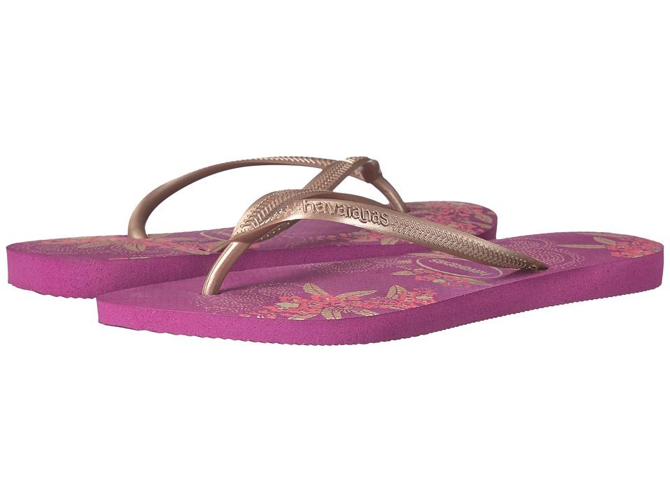 Havaianas - Slim Organic Flip Flops (Acai) Women's Sandals