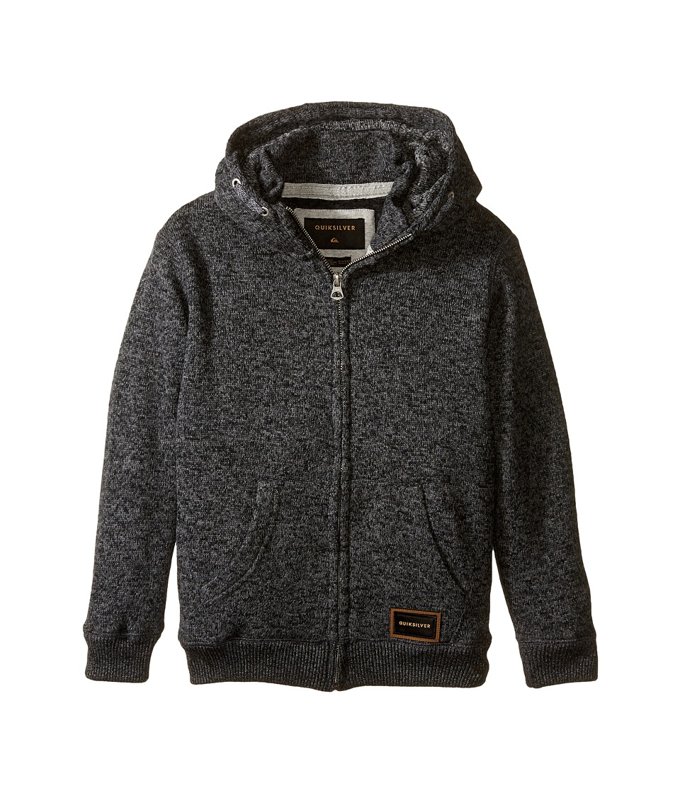 Quiksilver Kids - Keller Zip Fleece Top (Big Kids) (Tarmac Heather) Boy's Fleece