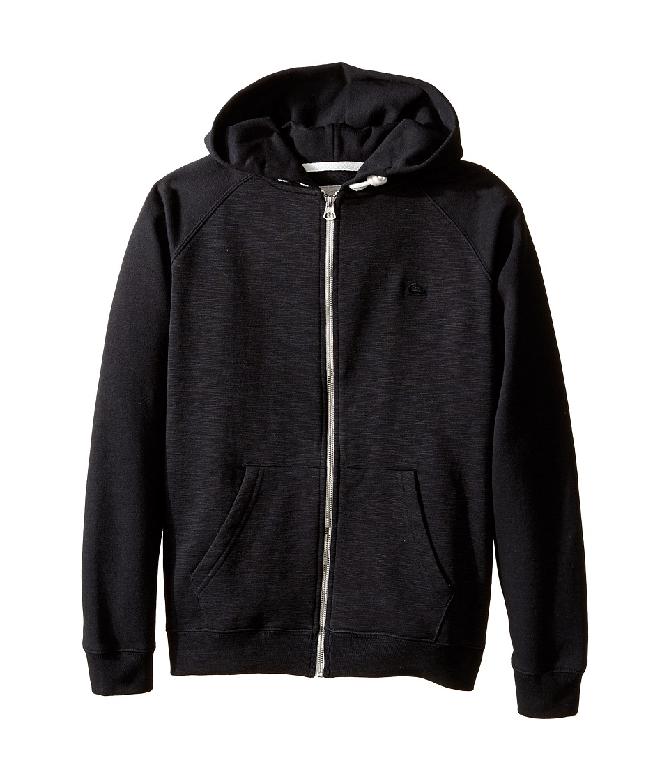 Quiksilver Kids - Everyday Zip Fleece Top (Big Kids) (Black) Boy's Fleece