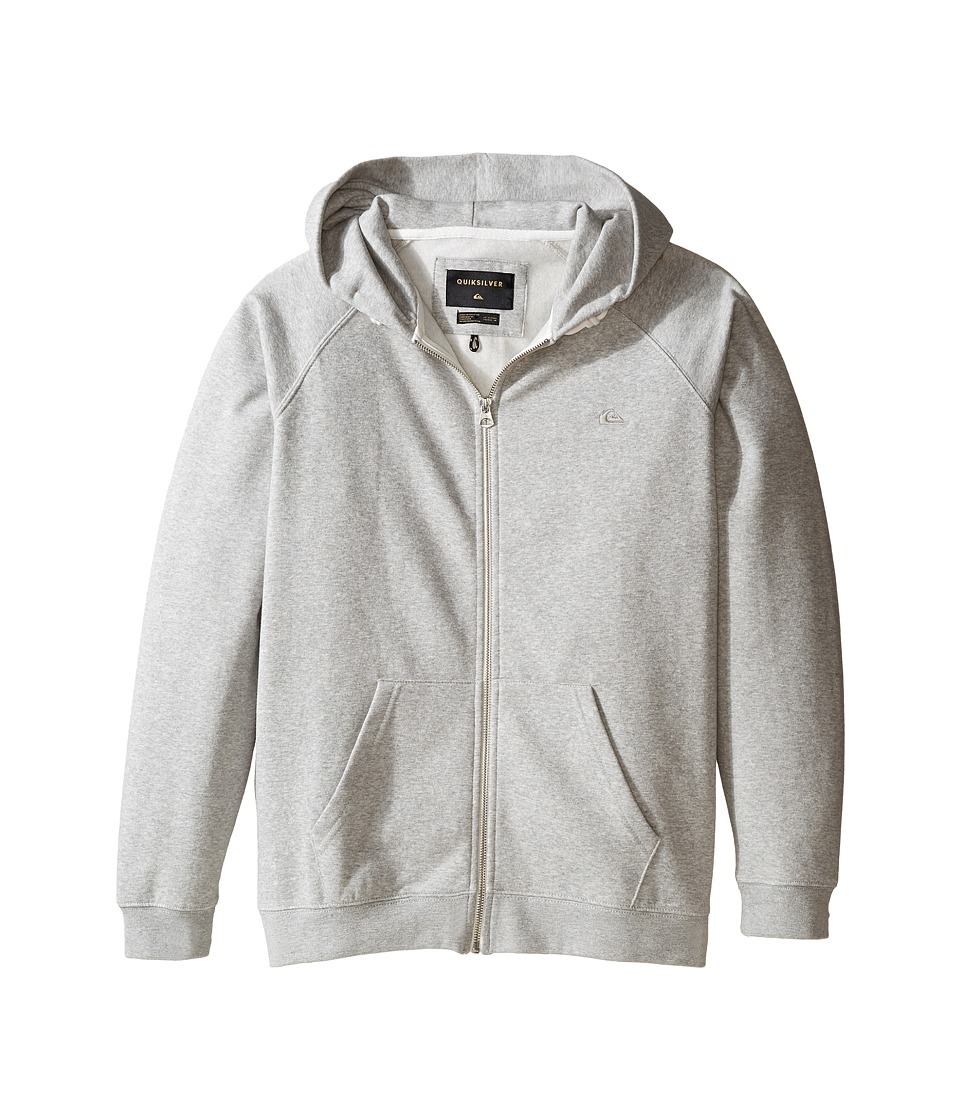 Quiksilver Kids - Everyday Zip Fleece Top (Big Kids) (Light Grey Heather) Boy's Fleece