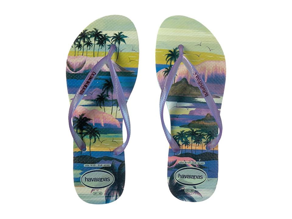 Havaianas - Slim Paisage Flip Flops (Mentha Green) Women's Sandals