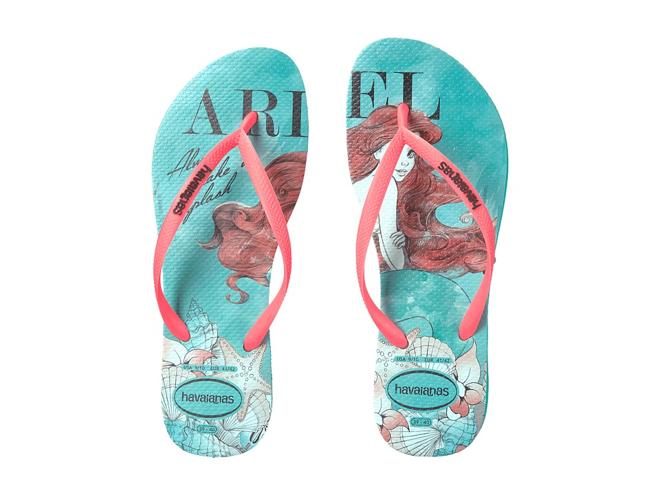 Havaianas Slim Princess Flip Flops (Mint Green) Women