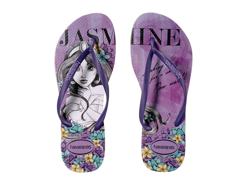 Havaianas Slim Princess Flip Flops (Soft Lilac) Women