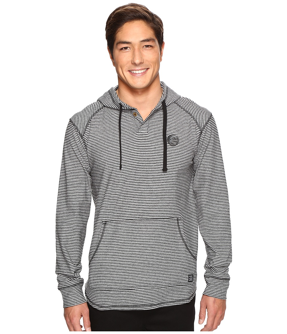 O'Neill - Switch Hooded Henley Knits (Black) Men's Clothing