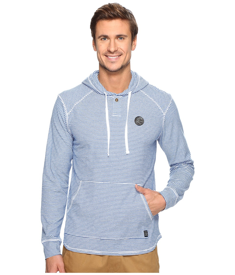O'Neill - Switch Hooded Henley Knits (Blue) Men's Clothing
