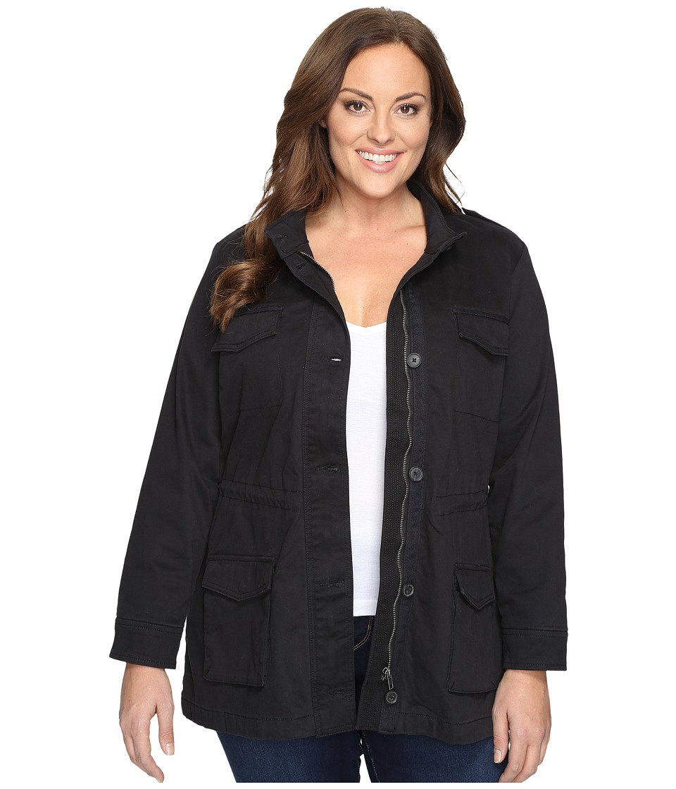 Lucky Brand - Plus Size Core Military Jacket (Black Beauty) Women's Coat
