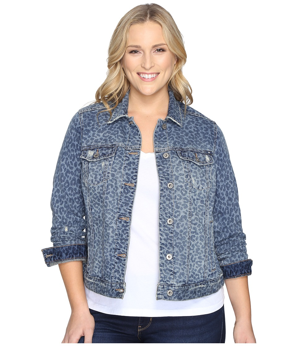 Lucky Brand - Plus Size Classic Trucker Jacket (Myth) Women's Coat
