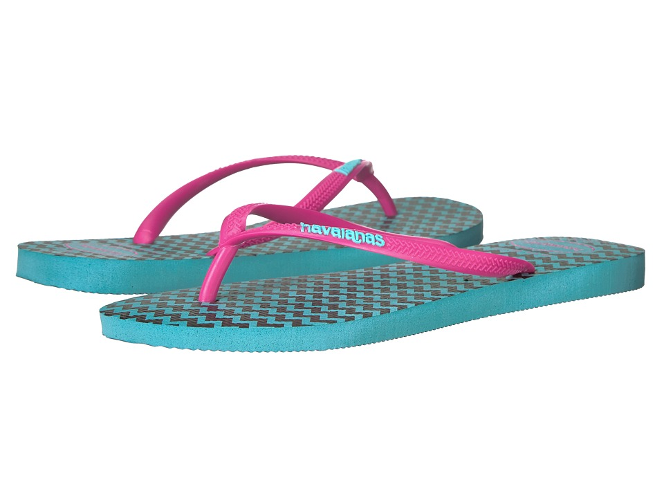 Havaianas - Slim Retro Flip Flops (Blue) Women's Sandals