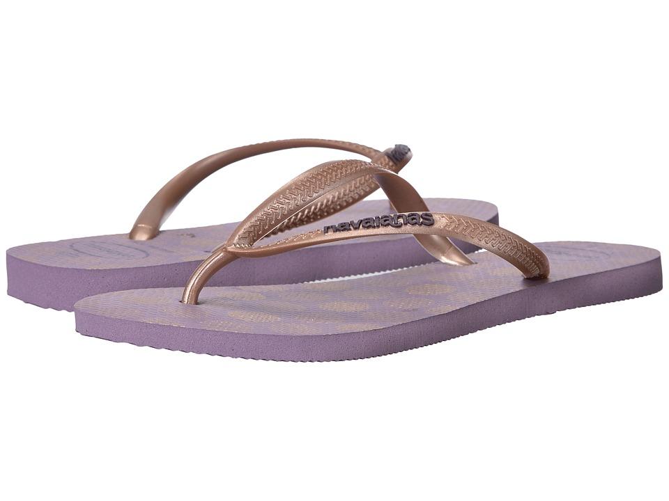 Havaianas - Slim Retro Flip Flops (Petunia) Women's Sandals