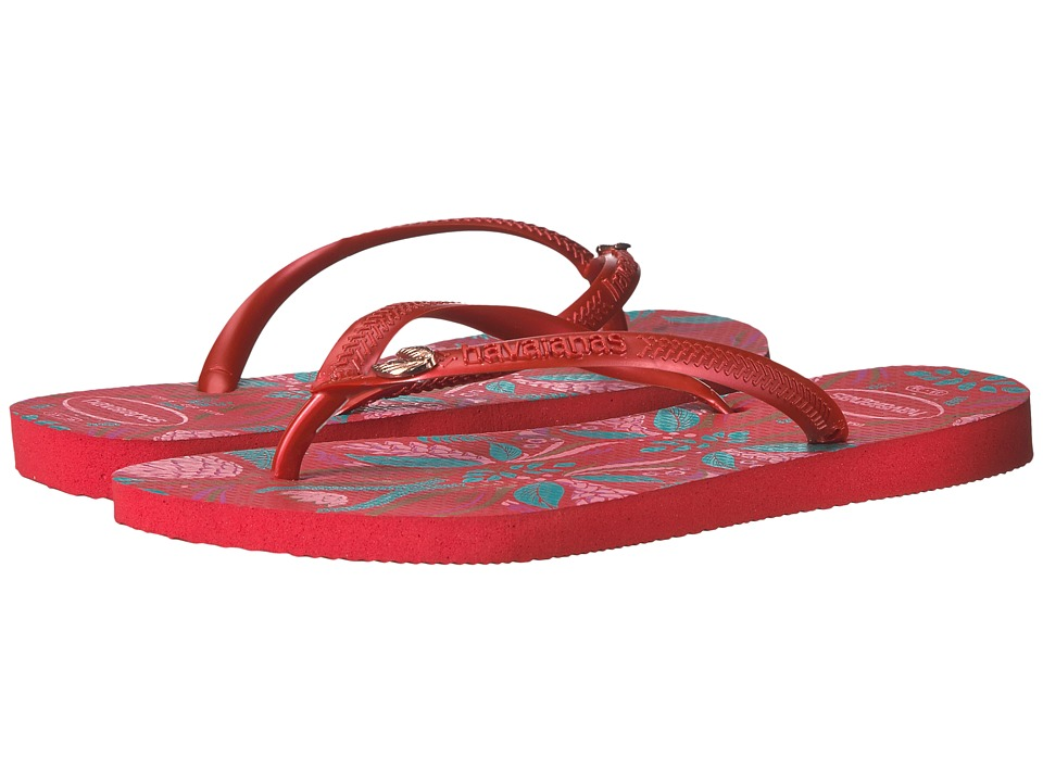 Havaianas - Slim Royal Flip Flops (Ruby Red) Women's Sandals