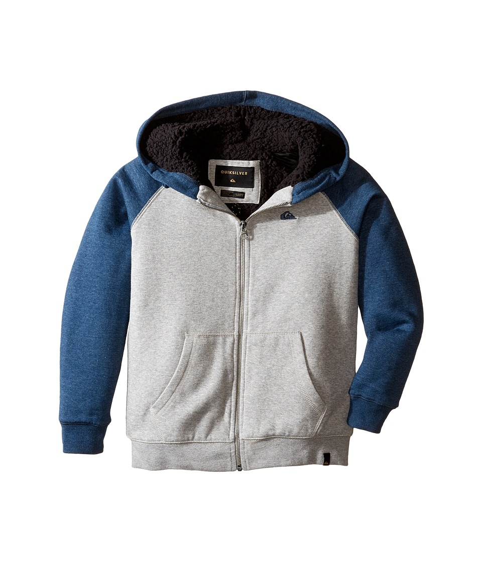 Quiksilver Kids - Block Outback Sherpa Fleece Top (Big Kids) (Light Grey Heather) Boy's Fleece