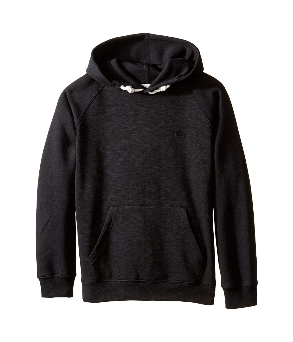 Quiksilver Kids - Everyday Hood Fleece Top (Big Kids) (Black) Boy's Fleece
