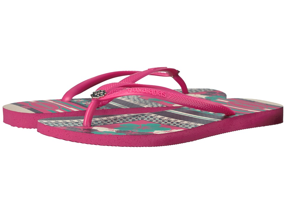 Havaianas - Slim Thematic Flip Flops (Orchid Rose) Women's Sandals