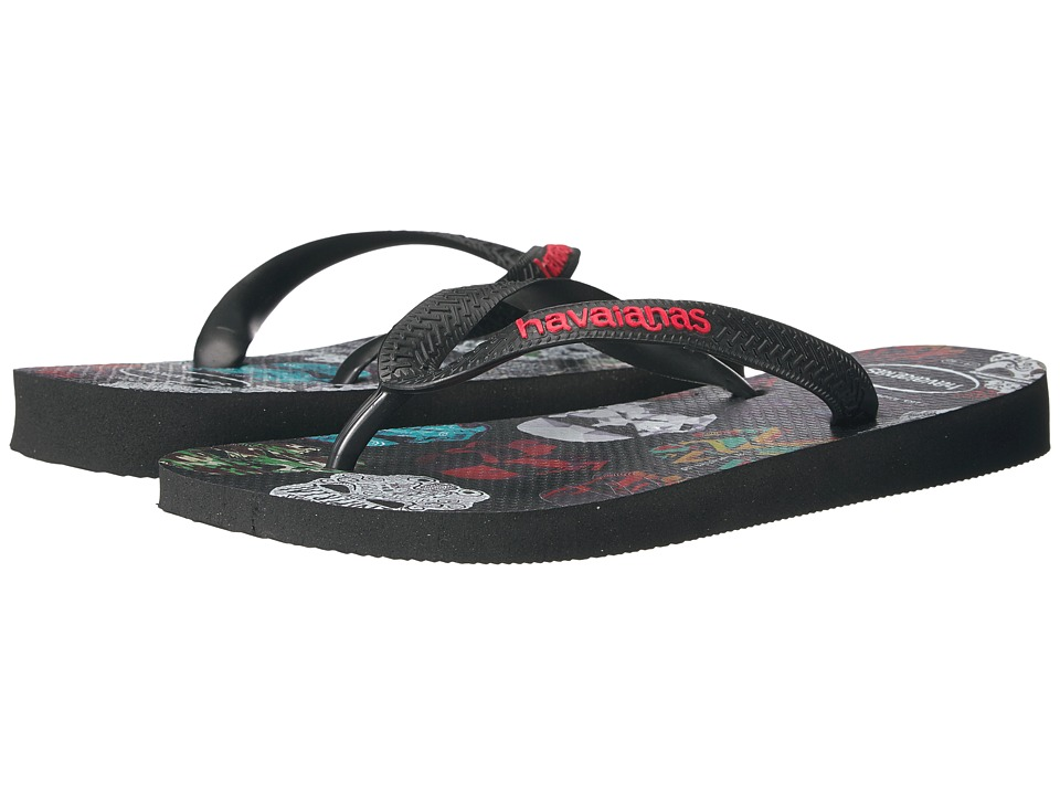 Havaianas - Star Wars Flip-Flops (Black/Black/Red) Women's Sandals