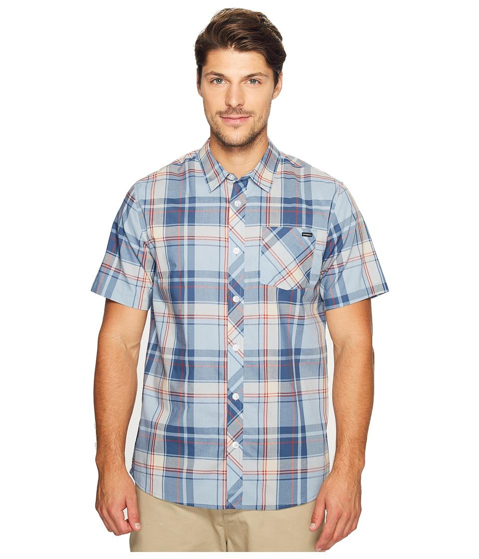 O'Neill - O'Neill Plaid Short Sleeve Woven (Light Blue) Men's Short Sleeve Button Up