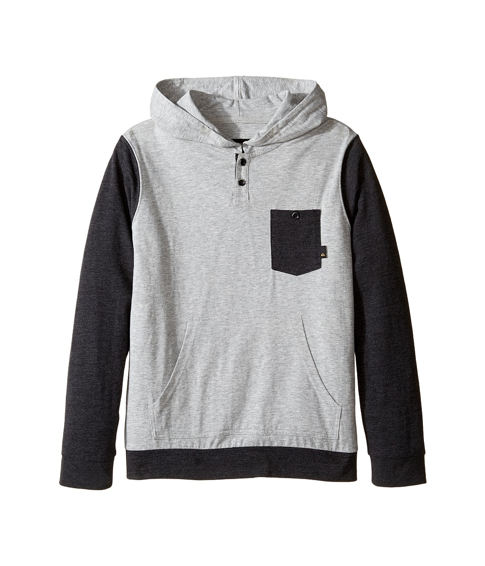 Quiksilver Kids - Guitar Magic Knit Top (Big Kids) (Light Grey Heather) Boy's Clothing