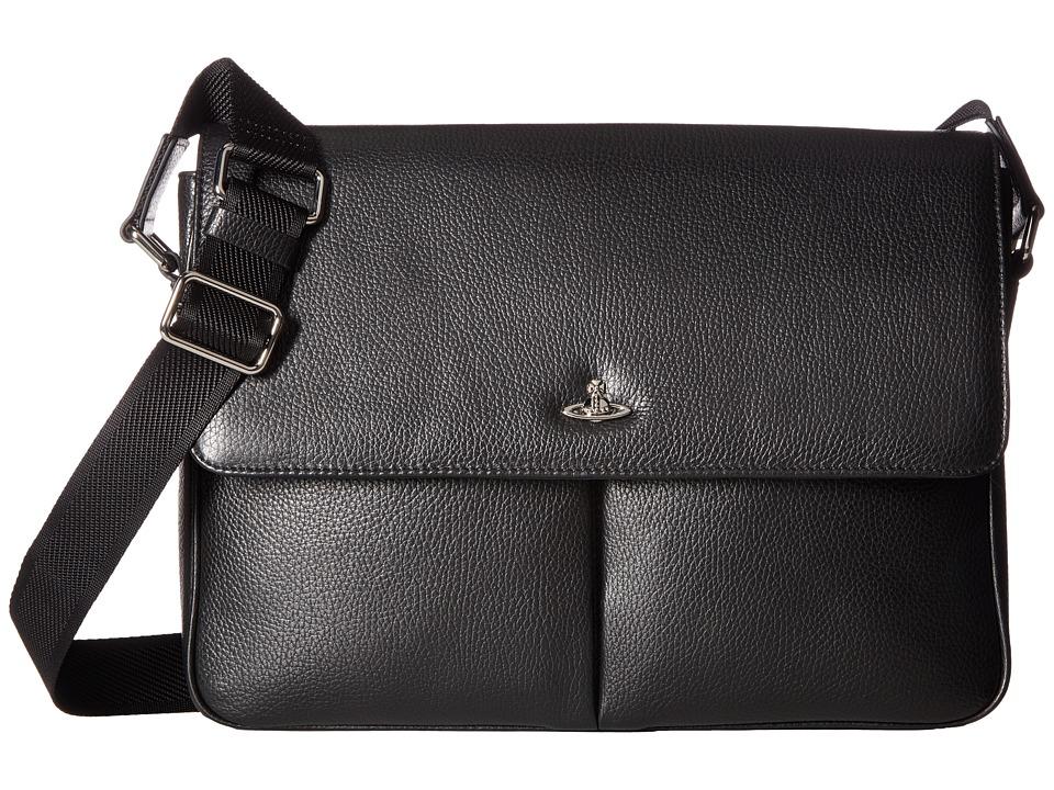 Vivienne Westwood - Milano Positano Bag (Black) Messenger Bags