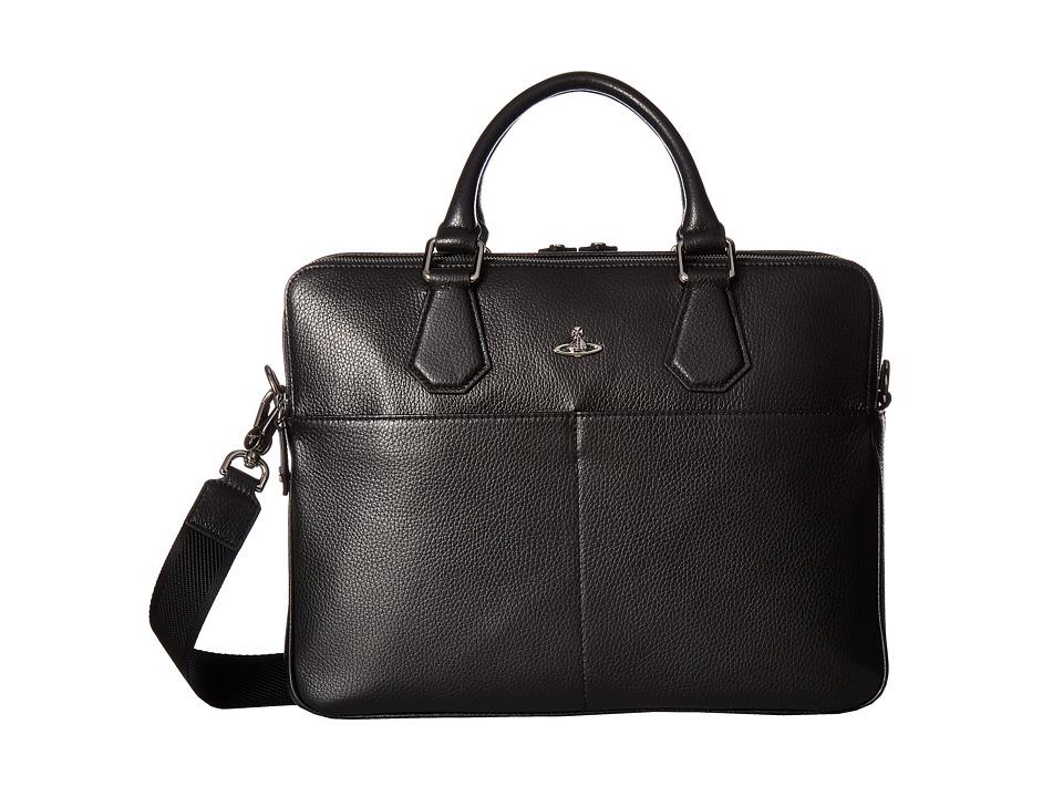 Vivienne Westwood - Milano Computer Bag (Black) Briefcase Bags