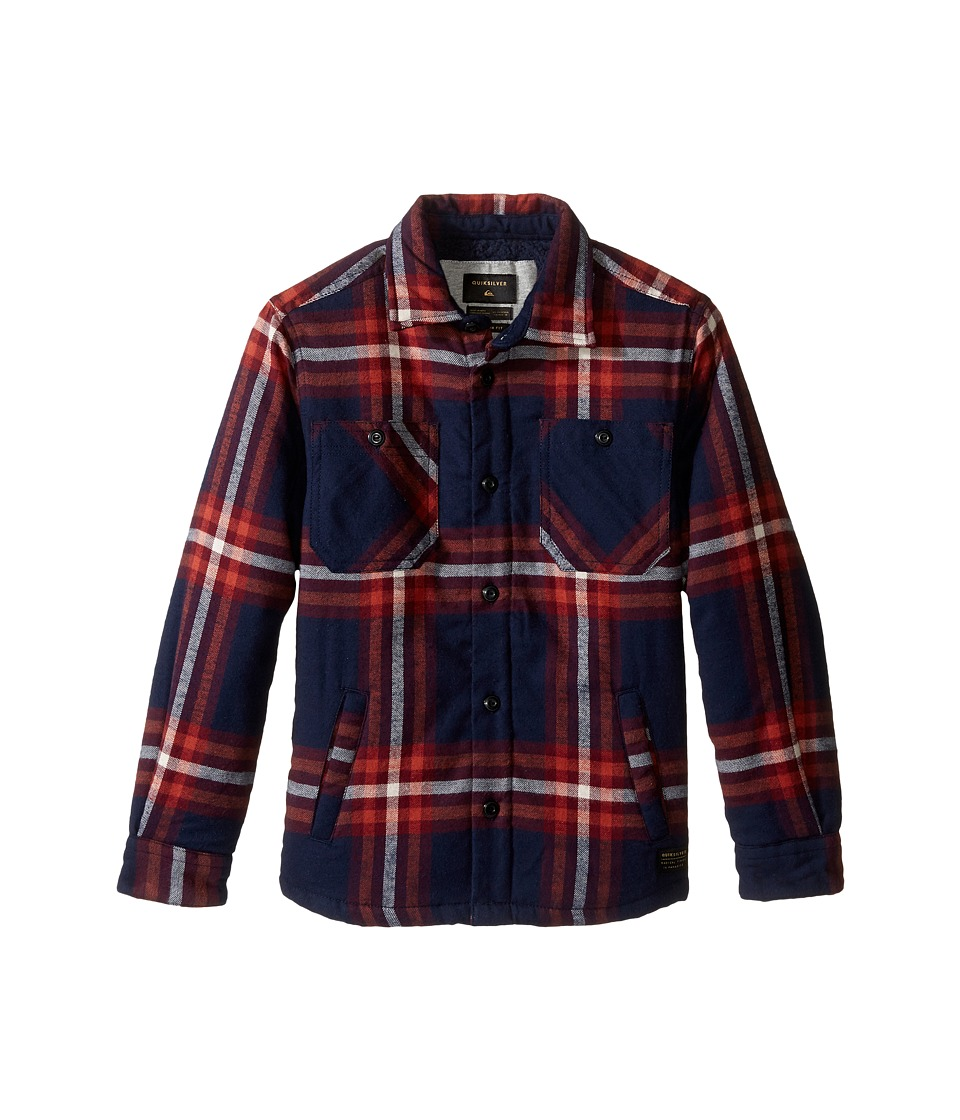 Quiksilver Kids - The Game Play Long Sleeve Woven Top (Big Kids) (Navy Game Play) Boy's Clothing