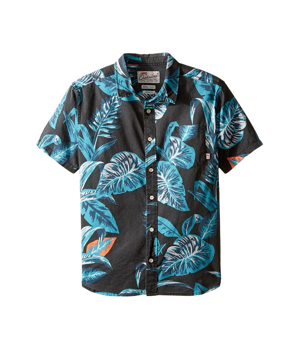 Quiksilver Kids - Aloe Shirt Short Sleeve Woven Top (Big Kids) (Aloe Tarmac) Boy's Clothing