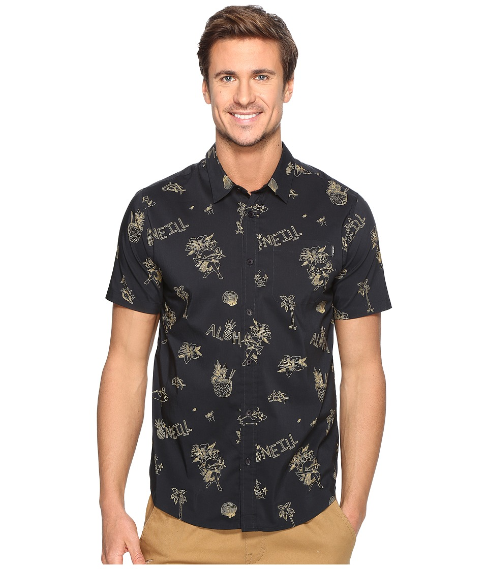 O'Neill - Aloha Short Sleeve Woven (Navy) Men's Clothing